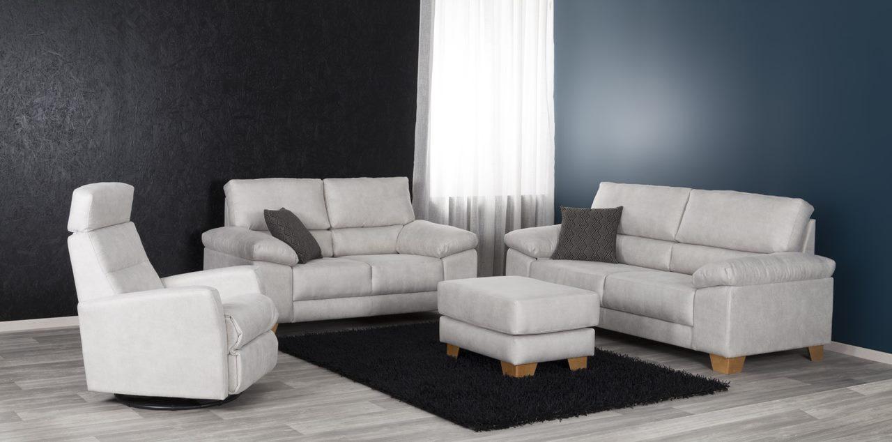 Pinja 3+2 sohvat, Relax kankaalla Noronen, laatusohvien